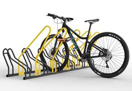 Ak hľadáte prémiové stojany na bicykle na zem s vyššou bezpečnosťou a funkčnosťou odporúčame vám zakúpiť stojany ALFA s rámom a IQ s rámom. Ide o stojany na bicykle s bezpečnostným rámom tzv. oblukom ktorý slúži na uzamykanie bicykla a obidvoch kolies súčasne. Zároveň rám tzv. obluk slúži ako ochrana pred prevrátením bicykla. Stojany sú vhodné pre všetky typy bicyklov od detských až po horské bicykle či elektro bicykle. Stojany zároveň nepoškodzujú bicykle s kotúčovou brzdou. Medzi jednotlivými stojanmi je rozostup 42 centimetrov čo je viac ako konkurenčné stojany na našom trhu. Z týchto dôvodov sú cyklo stojany používane na školách, cyklo chodníkoch, firemných cyklo parkoviskách, cyklo klietkach, obchodných domov. Všetky stojany na bicykle máme skladom.